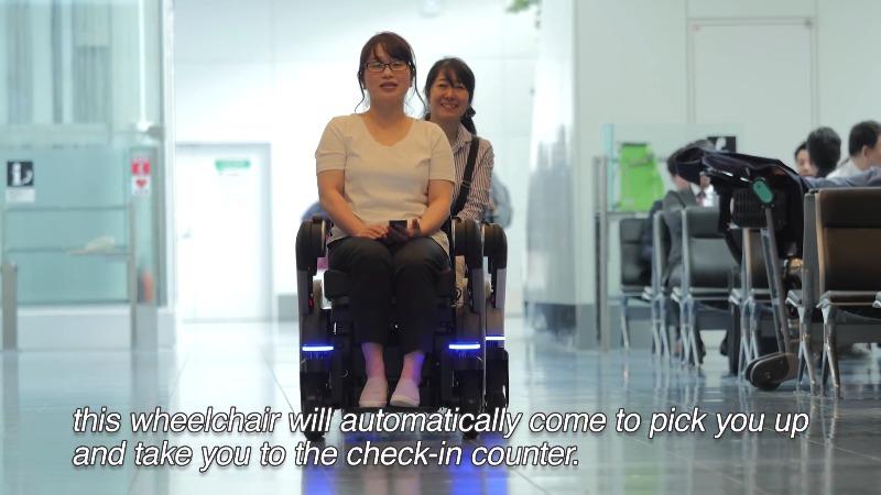 2020残障奥运由它引领选手入场 轮椅机器人羽田机场练身手