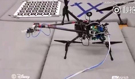 迪士尼无人机可以在墙壁和3D物体上绘制复杂的图案