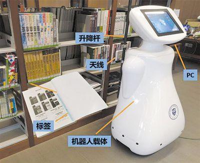 机器人图书馆上岗 海量图书各就各位