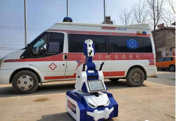 """""""看一眼""""就能测体温 青岛高新区企业推出""""升级版""""防疫机器人"""