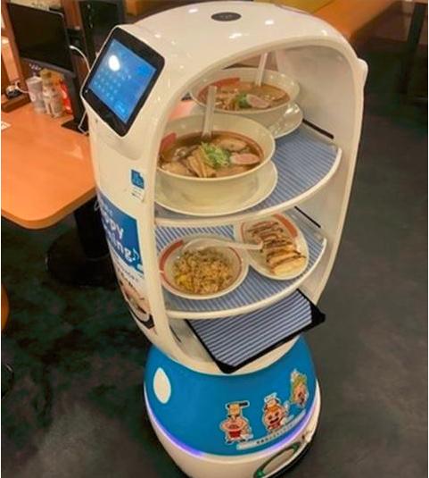 日企使用紫外线为手机、话筒除菌,拉面店用上了送餐机器人